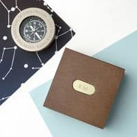 Personalised Brass Travellers Compass with Wooden Box - ideal gift for any occasion / celebration
